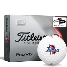 Titleist 2021 Pro V1x AIM Tulsa Golden Hurricane Golf Balls