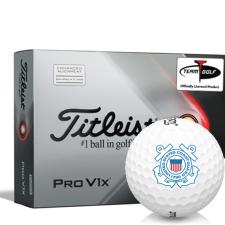 Titleist 2021 Pro V1x AIM US Coast Guard Golf Balls