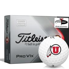 Titleist 2021 Pro V1x AIM Utah Utes Golf Balls