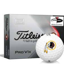 Titleist 2021 Pro V1x AIM Washington Redskins Golf Balls