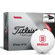 Titleist 2021 Pro V1x High Number Bradley Braves Golf Balls