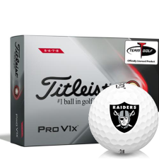 Titleist 2021 Pro V1x High Number Oakland Raiders Golf Balls