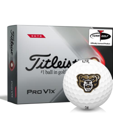Titleist 2021 Pro V1x High Number Oakland Golden Grizzlies Golf Balls