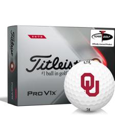 Titleist 2021 Pro V1x High Number Oklahoma Sooners Golf Balls