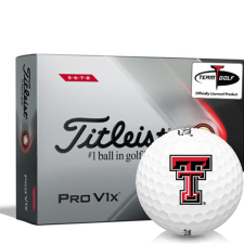 Titleist 2021 Pro V1x High Number Texas Tech Red Raiders Golf Balls