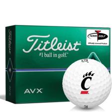 Titleist AVX Cincinnati Bearcats Golf Balls