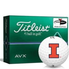 Titleist AVX Illinois Fighting Illini Golf Balls