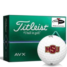 Titleist AVX Midwestern State Mustangs Golf Balls