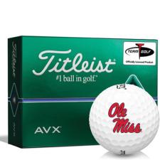 Titleist AVX Ole Miss Rebels Golf Balls