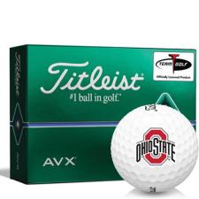 Titleist AVX Ohio State Buckeyes Golf Balls