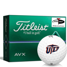 Titleist AVX Texas El Paso Miners Golf Balls