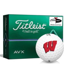 Titleist AVX Wisconsin Badgers Golf Balls