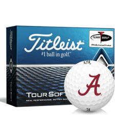 Titleist Tour Soft Alabama Crimson Tide Golf Balls