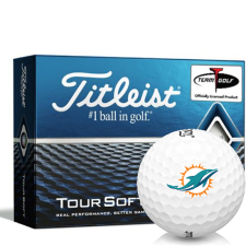 Titleist Tour Soft Miami Dolphins Golf Balls