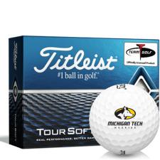 Titleist Tour Soft Michigan Tech Huskies Golf Balls