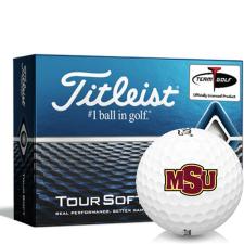 Titleist Tour Soft Midwestern State Mustangs Golf Balls