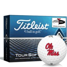 Titleist Tour Soft Ole Miss Rebels Golf Balls