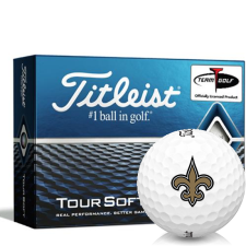 Titleist Tour Soft New Orleans Saints Golf Balls