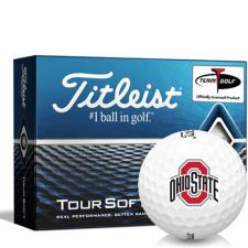 Titleist Tour Soft Ohio State Buckeyes Golf Balls