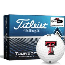 Titleist Tour Soft Texas Tech Red Raiders Golf Balls