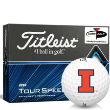 Titleist Tour Speed Illinois Fighting Illini Golf Balls