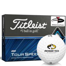 Titleist Tour Speed Michigan Tech Huskies Golf Balls