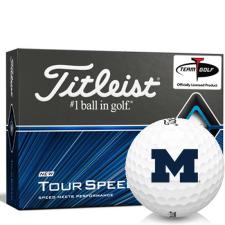 Titleist Tour Speed Michigan Wolverines Golf Balls