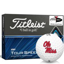 Titleist Tour Speed Ole Miss Rebels Golf Balls