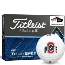 Titleist Tour Speed Ohio State Buckeyes Golf Balls