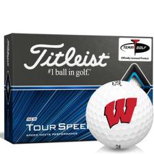 Titleist Tour Speed Wisconsin Badgers Golf Balls
