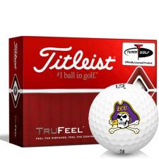 Titleist TruFeel East Carolina Pirates Golf Balls