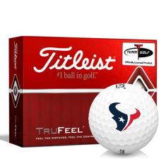 Titleist TruFeel Houston Texans Golf Balls