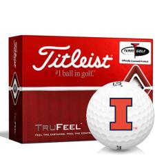 Titleist TruFeel Illinois Fighting Illini Golf Balls