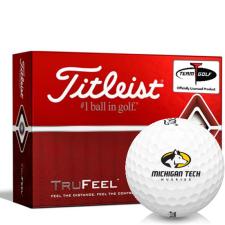 Titleist TruFeel Michigan Tech Huskies Golf Balls