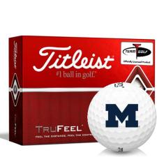 Titleist TruFeel Michigan Wolverines Golf Balls