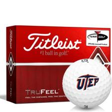 Titleist TruFeel Texas El Paso Miners Golf Balls