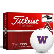 Titleist TruFeel Washington Huskies Golf Balls