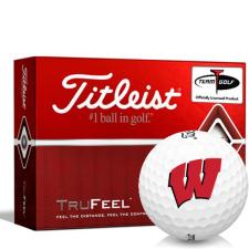 Titleist TruFeel Wisconsin Badgers Golf Balls