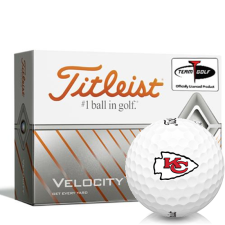 Titleist Velocity Kansas City Chiefs Golf Balls