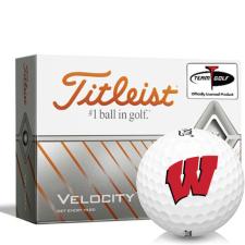 Titleist Velocity Wisconsin Badgers Golf Balls