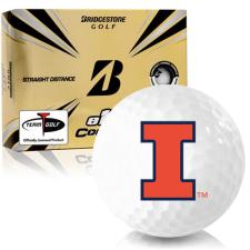 Bridgestone e12 Contact Illinois Fighting Illini Golf Balls