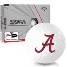 Callaway Golf Chrome Soft X LS Alabama Crimson Tide Golf Balls