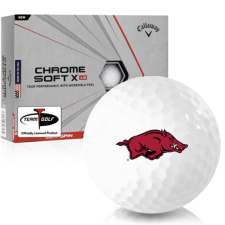 Callaway Golf Chrome Soft X LS Arkansas Razorbacks Golf Balls