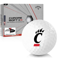 Callaway Golf Chrome Soft X LS Cincinnati Bearcats Golf Balls