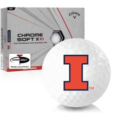 Callaway Golf Chrome Soft X LS Illinois Fighting Illini Golf Balls