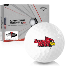 Callaway Golf Chrome Soft X LS Illinois State Redbirds Golf Balls