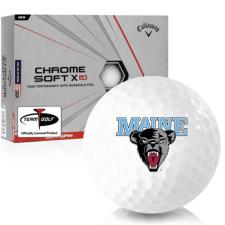 Callaway Golf Chrome Soft X LS Maine Black Bears Golf Balls