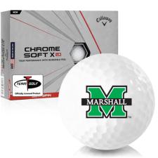 Callaway Golf Chrome Soft X LS Marshall Thundering Herd Golf Balls