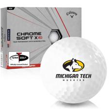 Callaway Golf Chrome Soft X LS Michigan Tech Huskies Golf Balls