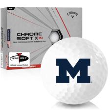 Callaway Golf Chrome Soft X LS Michigan Wolverines Golf Balls